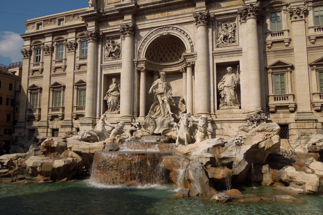 If you toss a penny over your shoulder into the fountain, you'll have a speedy return to Rome!
