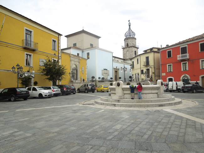 The Piazza in Sepino, Italy
