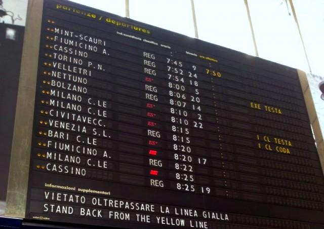 Roma Termini Departures