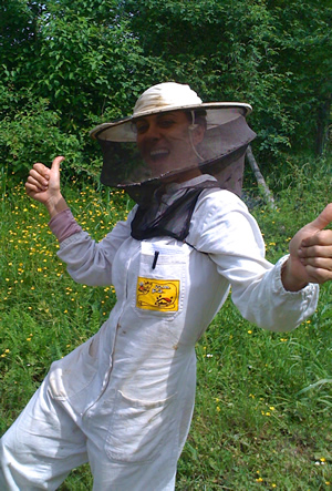 Arianna the bee keeper