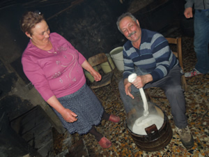 stretching the curd