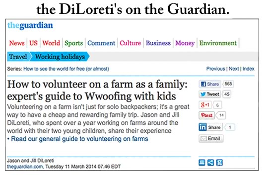 Our Article on the Guardian: WWOOFing with kids